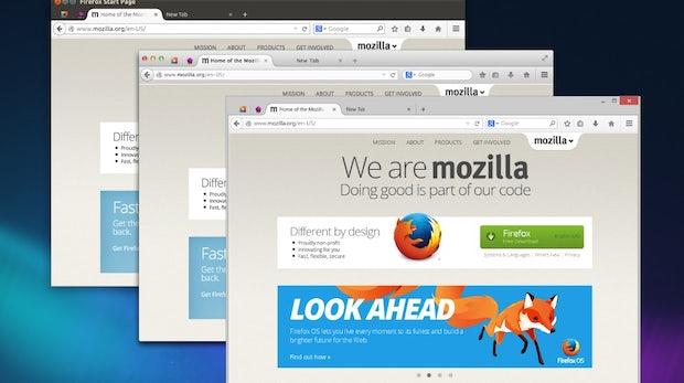 Mozilla Firefox: Die neue Australis-Oberfläche auf verschiedenen Plattformen. (Bild: Mozilla Firefox)