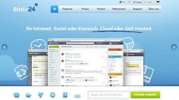 """Das Enterprise-Social-Network <a href=""""http://www.bitrix24.de/"""">Bitrix24</a>  beinhaltet die gängisten Tools eines klassischen Intranets wie beispielsweise Aufgaben, Kalender oder auch ein CRM."""