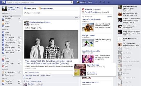 Facebook testet neues Newsfeed-Design: Mehr Aufmerksamkeit den Anzeigen