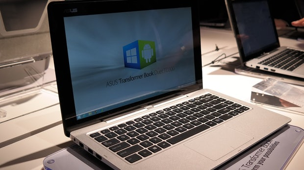 CES 2014: Asus überrascht mit Transformer Book Duet TD300 – 1 Gerät, 2 Betriebssysteme, 4 Modi