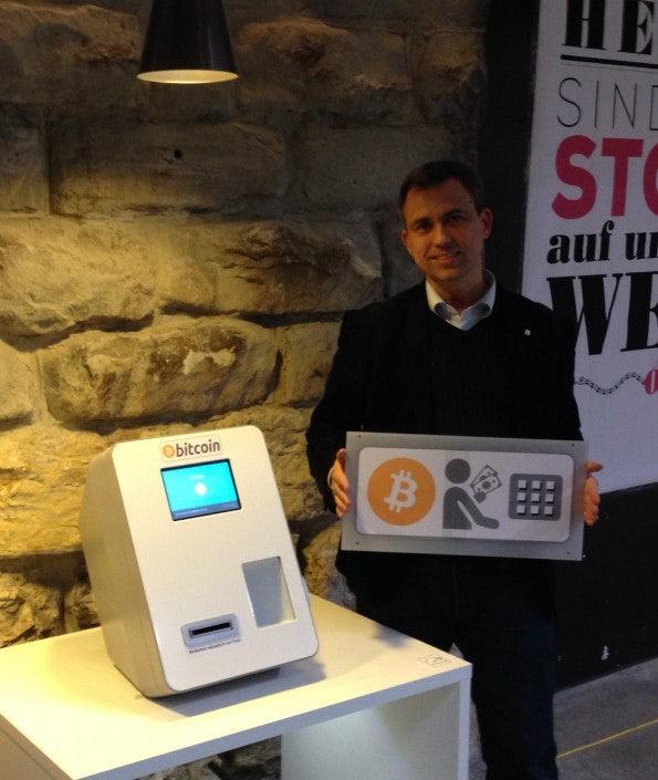 Bitcoin Geldautomat in der Markthalle in Zürich. (Bild: World Bitcoin Association)