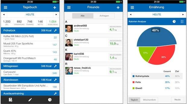 Die Fitness-App Myfitnesspal bietet umfangreiche Funktionen – Datenschützer monieren jedoch den Umgang mit den Nutzerinformationen. (Bild: iTunes)
