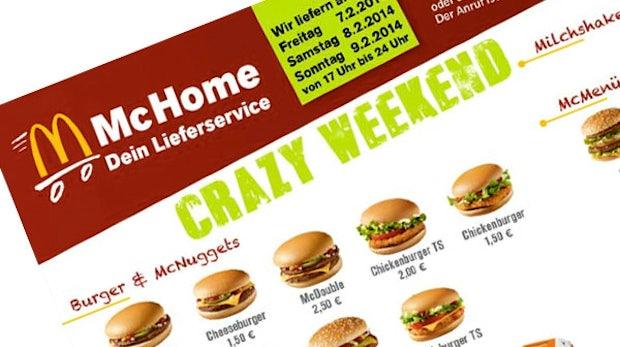 McDonald's testet Online-Lieferservice: McHome