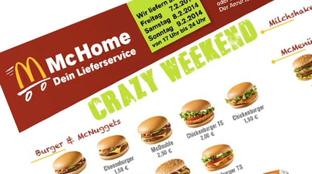 McDonald's testet Online-Lieferservice: McHome