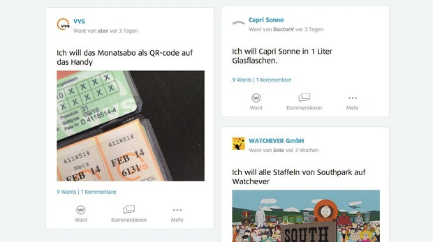"""""""Ich will aber!"""" WeWant soll Kundenwünsche zum Anbieter bringen"""