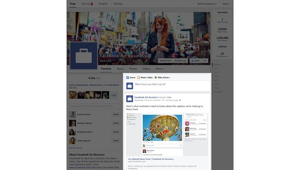 Neue Facebook-Pages: Überarbeitete Timeline. (Screenshot: Facebook)