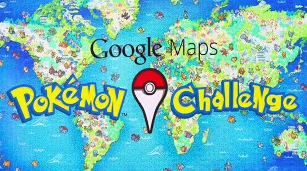 """Aprilscherz: Google Maps jetzt mit Mini-Spiel """"Pokemon Challenge"""""""