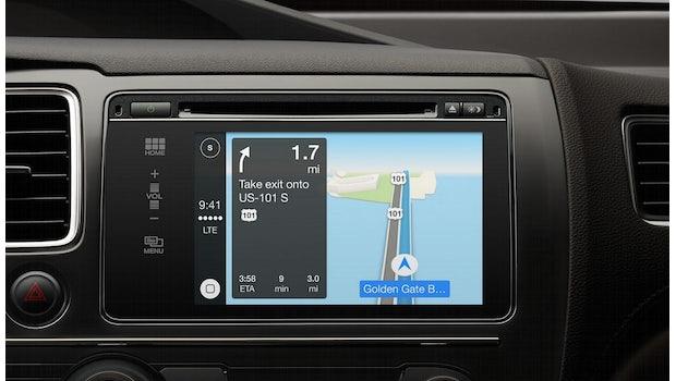 Neben Apple dürfte auch Google bald ein User-Interface für Smartphones im Auto anbieten. (Screenshot: Apple)