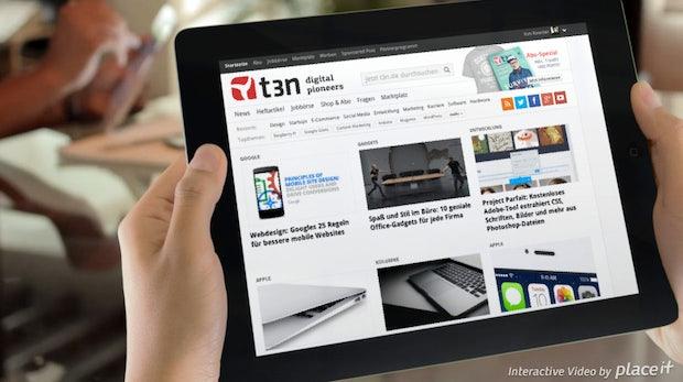PlaceIt: Jetzt lassen sich ganze Webseiten in interaktive Videos einbinden