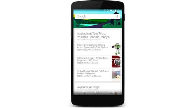 Google Now zeigt Nutzern jetzt, wo sie in ihrer Nähe zuvor gesuchte Produkte finden