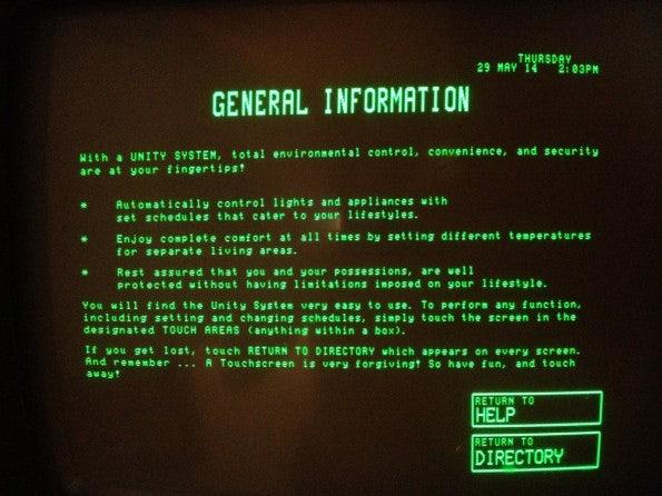 Schon damals mit Touchscreen: Das Smart-Home-System der 80er. (Foto: avboden / imgur)