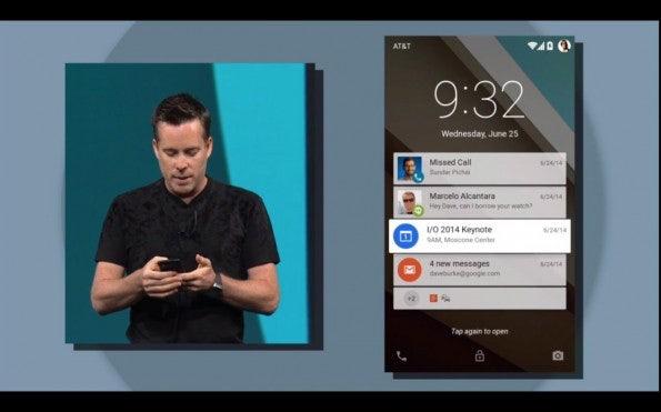 Benachrichtigungen auf dem Sperrbildschirm gibt es bei iOS schon seit Jahren – Also hat Google geklaut? (Screenshot: youtube.com)