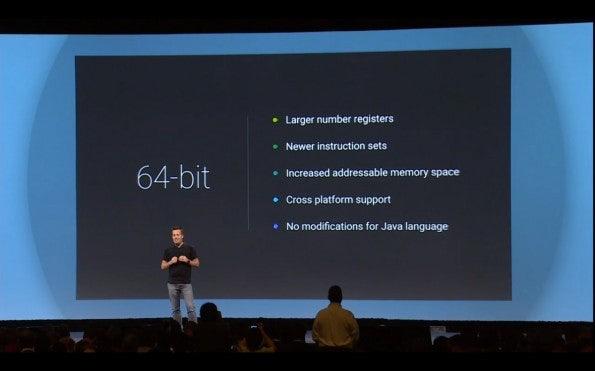 Android L ist dank der neuen Android Runtime vollkommen 64-bit-fähig – es fehlt die passende Hardware. (Quelle: golem.de)
