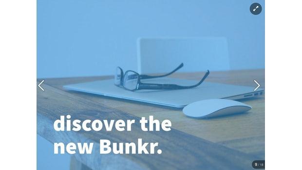 Bunkr beinhaltet ein Bookmarklet zum Sammeln von Inhalten für die eigenen Präsentationen. (Bild: Bunkr)