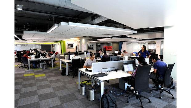 So sieht der Microsoft Ventures Accelerator in Bangalore aus. (Quelle: Microsoft)