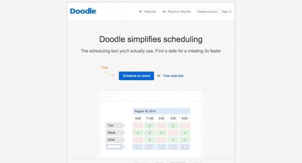 (Screenshot: doodle.com)
