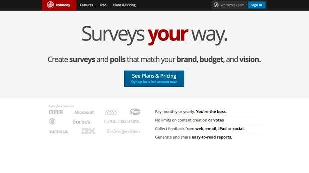 Von Automattic, der Firma hinter WordPress, stammt das Umfrage-Tool Polldaddy. (Screenshot: polldaddy.com)