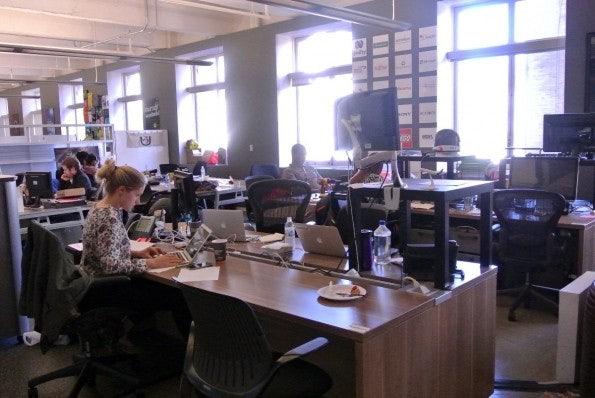 RocketSpace: Inkubator-Räume für Startups. Das Klassenzimmer ist gleich nebenan. (Foto: Andreas Weck)