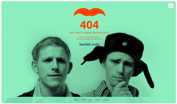 """Bei herrlich media gibt man sich entsetzt. Immerhin; Schön anzuschauen.  <a href=""""http://herrlich.media/404"""">herrlich media</a>)"""