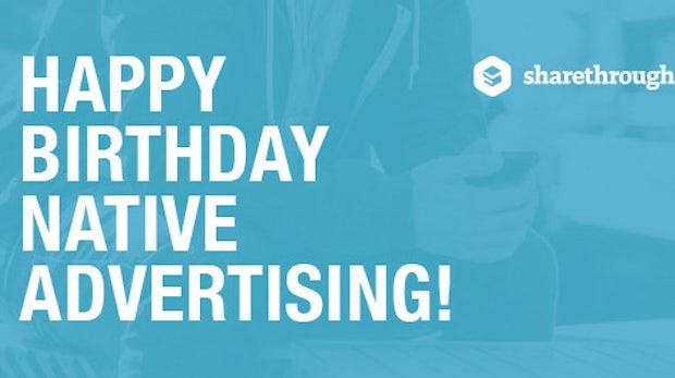 Happy Birthday: Drei Jahre Native Advertising im Überblick