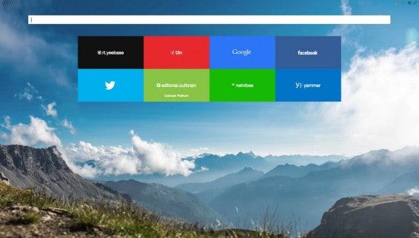 Yandex-Browser Startseite