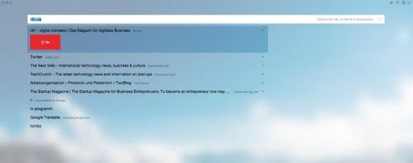 Yandex-Browser Suche