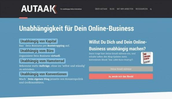 "<a href=""http://www.autaak.de"">Autaak</a> (Screenshot: t3n)"