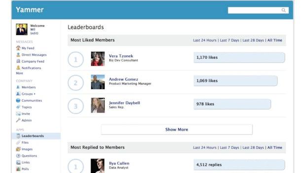 Neben Nobrainern wie Mail oder Messaging mit Skype und ähnlichen Apps gehören auch Social Intranets wie Yammer in die Kategorie der kollaborativen Kommunikation. (Bild: Microsoft)