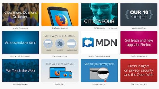 Werbung auf jedem neuen Tab: Mozilla erklärt die neuen Anzeigen in Firefox