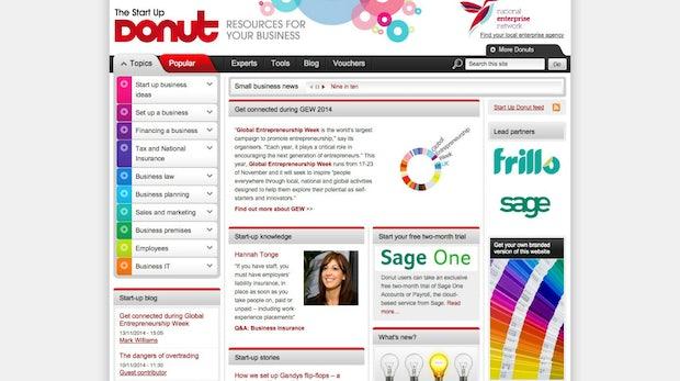 """<a href=""""http://www.startupdonut.co.uk"""">Startup Donut</a> (Screenshot: t3n)"""