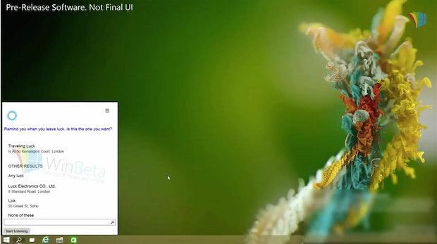 Cortana: Microsofts Sprachassistentin kommt unter Windows 10 auf den Desktop-PC