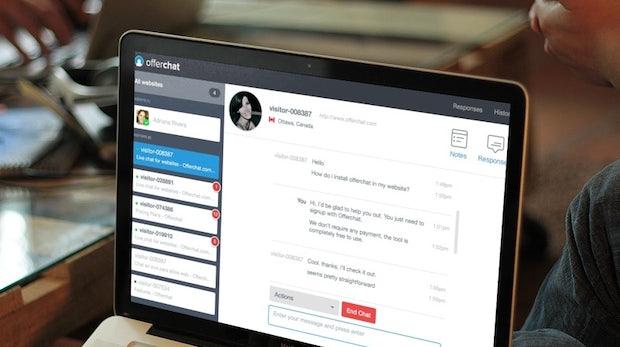 Kostenloser Chat für deine Seite: Mit Offerchat bietest du deinen Nutzern Live-Support