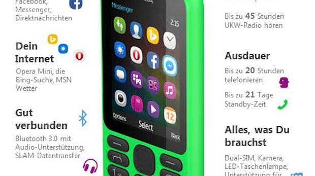 Nokia 215 (Foto: Microsoft)