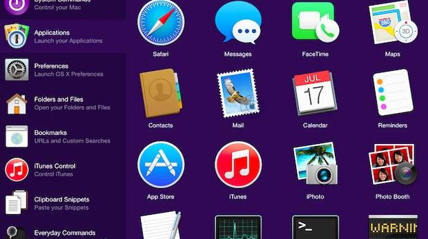 Alfred Remote: Mit der iOS-App könnt ihr Arbeitsabläufe auf dem Mac fernsteuern. (Screenshot: Alfred Remote)