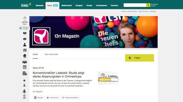 News-Seiten bei Xing: Nach Facebook und LinkedIn lockt jetzt auch das Karriere-Netzwerk die Publisher