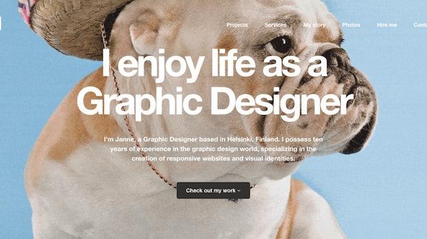 Hallöchen! 19 inspirierende Beispiele für coole Portfolio-Webseiten