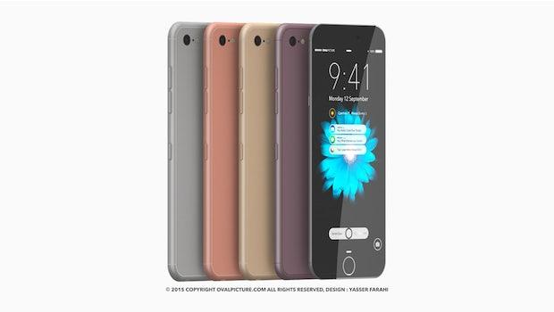 So stellt sich der Designer Yasser Farahi das iPhone 7 vor. (Grafik: Yasser Farahi / Ovalpictures)
