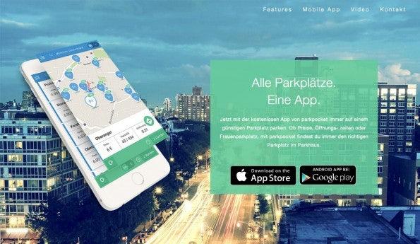 Parkplatzsuche per App: parkpocket ist einer der CODE_n-Finalisten auf der CeBIT 2015. (Screenshot: parkpocket)
