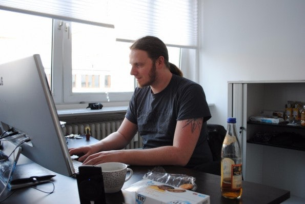 Daniel Heitmann ist Admin bei Uberspace. (Foto: Caspar Tobias Schlenk)
