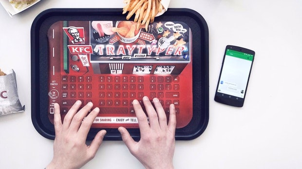 Marketing zum Fingerlecken: KFC macht Tabletts zu Bluetooth-Keyboards