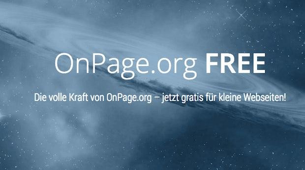 OnPage.org startet kostenlosen Account für kleine Websites