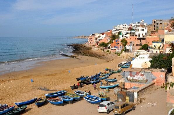 Taghazout liegt circa 20 Kilometer nördlich von Agadir am Atlantik. Unter Gründern ist der kleine Ort zum beliebten Reiseziel avanciert. (Foto: The Blue House)