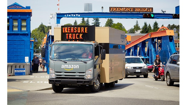 Der Amazon-Treasure-Truck in Seattle. (Foto: Amazon)