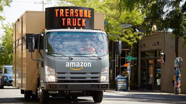 Amazons rollende Schatzkiste: Der Treasure-Truck verkauft Sonderangebote auf der Straße