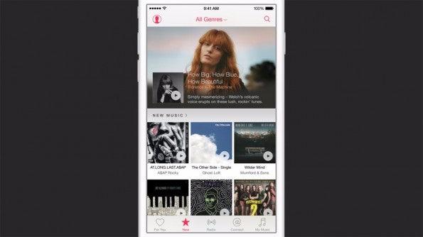 Die Startseite von Apple Music ähnelt dem bisherigen iTunes. (Quelle: Apple.com)