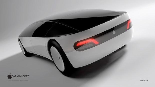 "Apple Car: Könnte so ein Elektroauto aus Cupertino aussehen? (Grafik: <a href=""https://www.freelancer.com/contest/Create-a-design-for-the-rumored-Apple-Electric-Car-159251-byentry-5175053.html"">menithings / Freelancer.com</a>)"