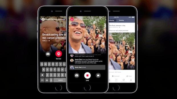 Kampf gegen Periscope: Facebook reiht Live-Videos im News Feed nach oben