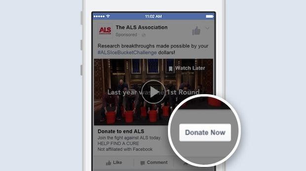 Facebook führt Spenden-Button ein