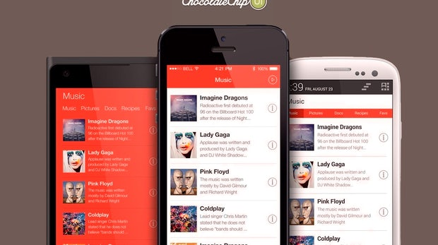 ChocolateChip-UI: HTML-Theme für iOS, Android und Windows Phone