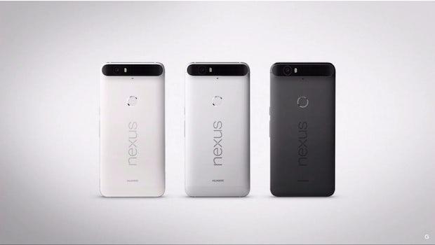 Das neue Huawei Nexus 6P ist in drei Farben ab 649 Euro erhältlich. (Screenshot: youtube.com/google)